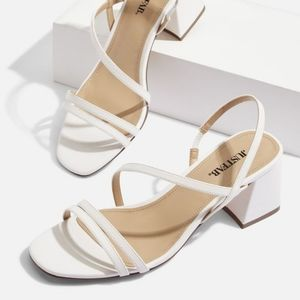 New in Box. White Sandals.